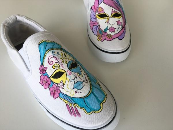 Mali Art Buty Maski Weneckie